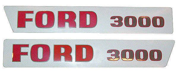 Ford 3000 Tractor Decals : Ford decals and emblems decal kit